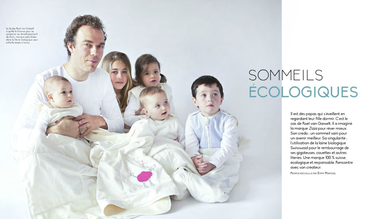 Photo de l'article du magazine suisse Babybook
